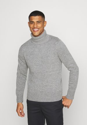 TURTLENECK JUMPER - Pullover - grey medium
