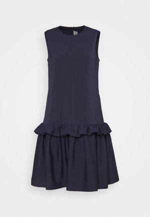 SLEEVELESS FLOUNCE HEM FAILLE DRESS - Shift dress - midnight blue
