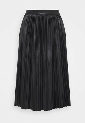 NMHILL PLEATED - Pleated skirt - black