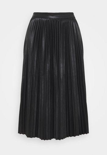 NMHILL PLEATED - Pleated skirt - black
