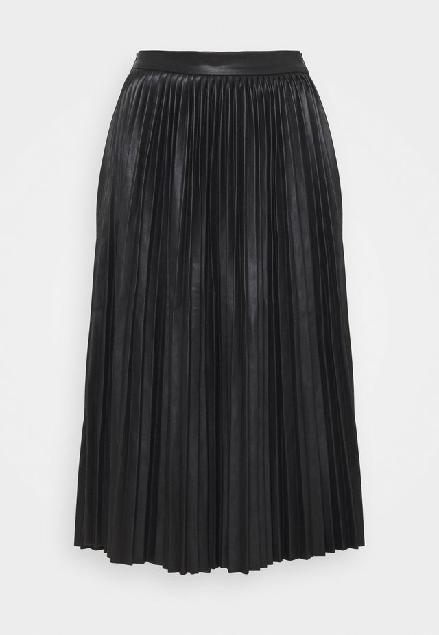 NMHILL PLEATED - Gonna a pieghe - black