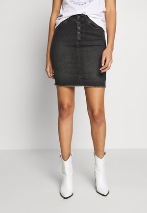 ONLBLUSH RAW - Denim skirt - black