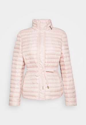 BELTED - Down jacket - powder blush