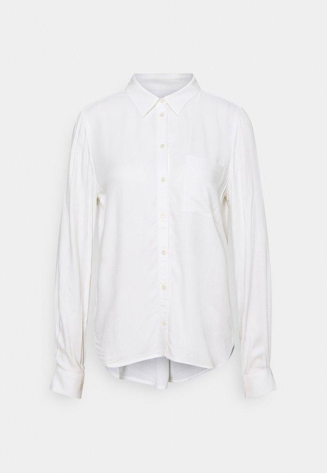 BLOUSE BUTTON THROUGH - Button-down blouse - off-white