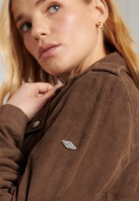 Superdry - Leather jacket - tobacco suede - 2