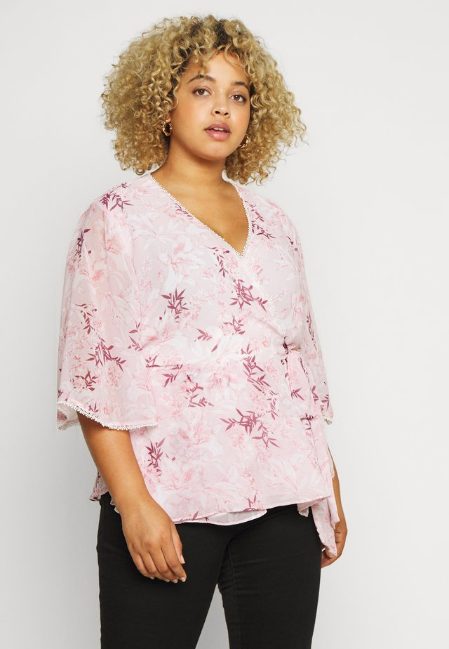 IMOGEN FLUTTER WRAP BLOUSE - Blouse - blush sunset