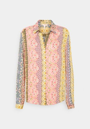 BLOUSE OVERSIZED BORDER PRINT - Blůza - multi coloured