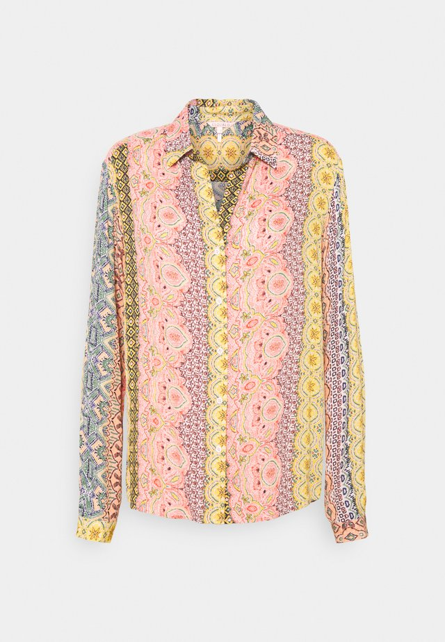 BLOUSE OVERSIZED BORDER PRINT - Pusero - multi coloured