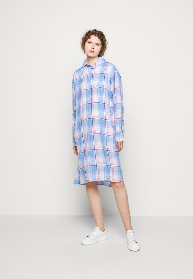 Shirt dress - white/ blue
