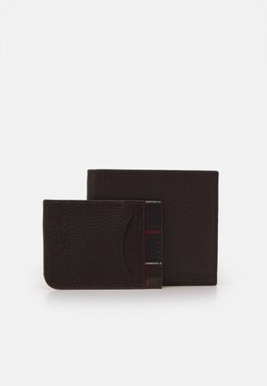 WALLET CARDHOLDER GIFT SET UNISEX - Wallet - dark brown