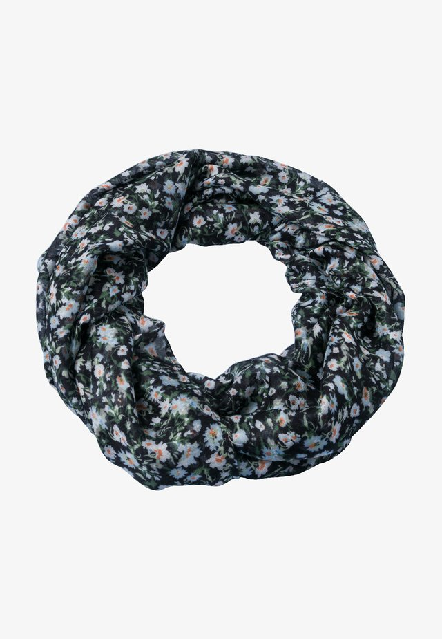 MIT BLUMENDRUCK - Snood - black