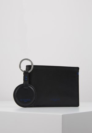 BOX WITH KEY RING AND WALLET ZIPPED POCKET SHUTTERS SET - Breloczek - noir