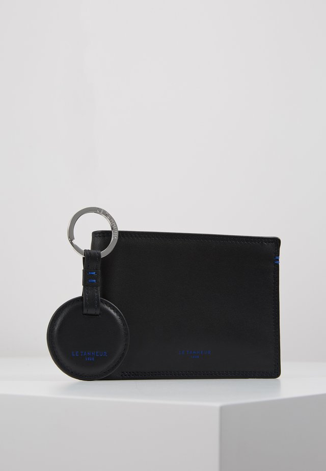 BOX WITH KEY RING AND WALLET ZIPPED POCKET SHUTTERS SET - Porte-clefs - noir