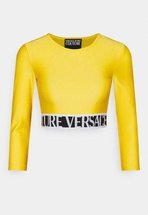 Tops ar garām piedurknēm - yellow