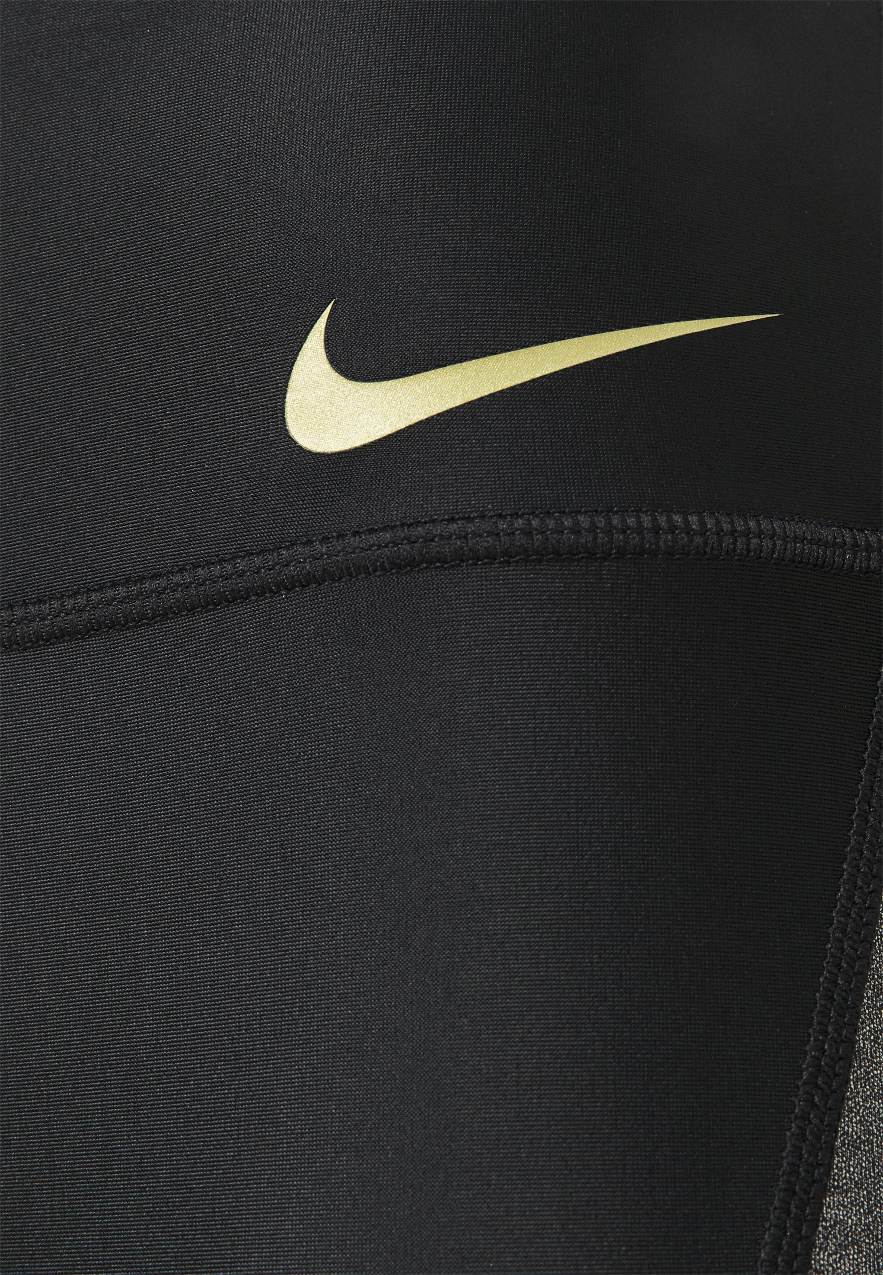 Nike Performance ICNCLSH SPEED - Leggings - black/metallic gold NA3yy