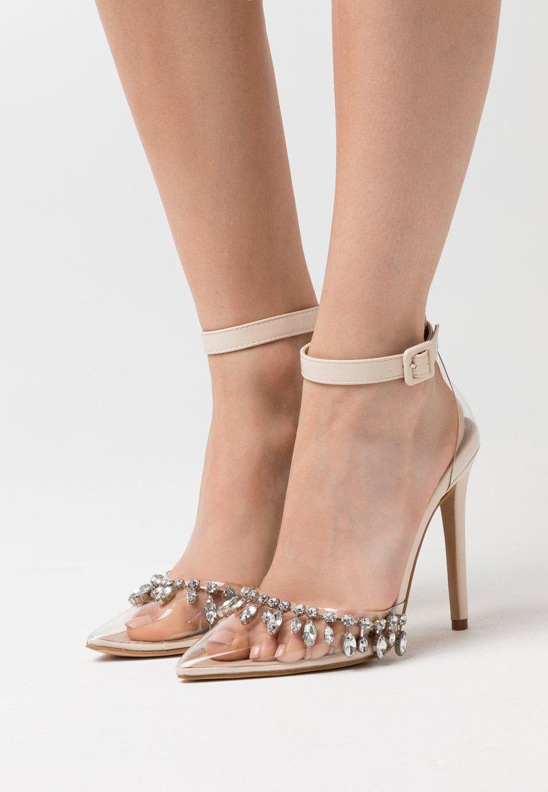 BEBO - RASSEL - High heels - clear/nude