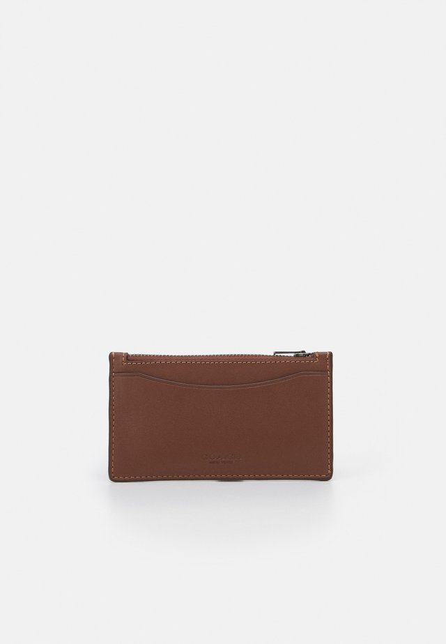ZIP CARD CASE - Wallet - dark saddle