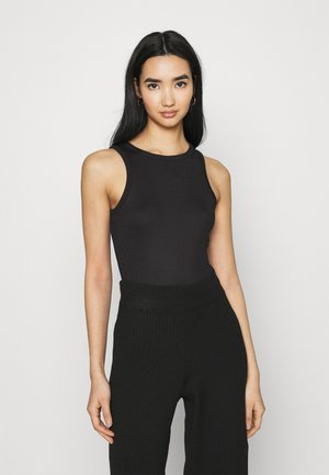 NA-KD X ZALANDO EXCLUSIVE - SOFT RIBBED TANK - Top - black