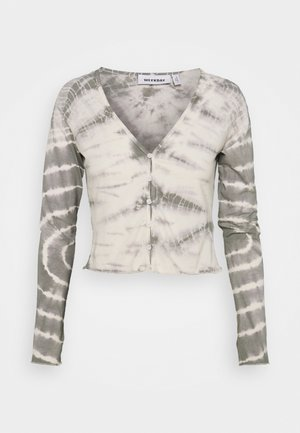 VIOLA  - Cardigan - tie dye grey with white