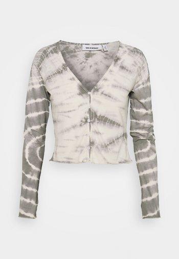 VIOLA  - Cardigan - tie dye grey with white