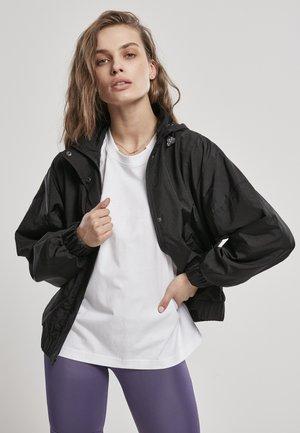 SHINY CRINKLE  - Summer jacket - schwarz