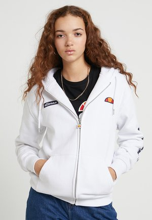 SERINATAS - Zip-up hoodie - white
