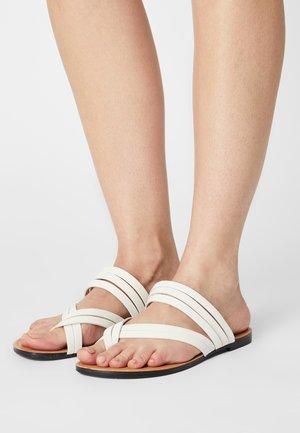 TIA - T-bar sandals - white