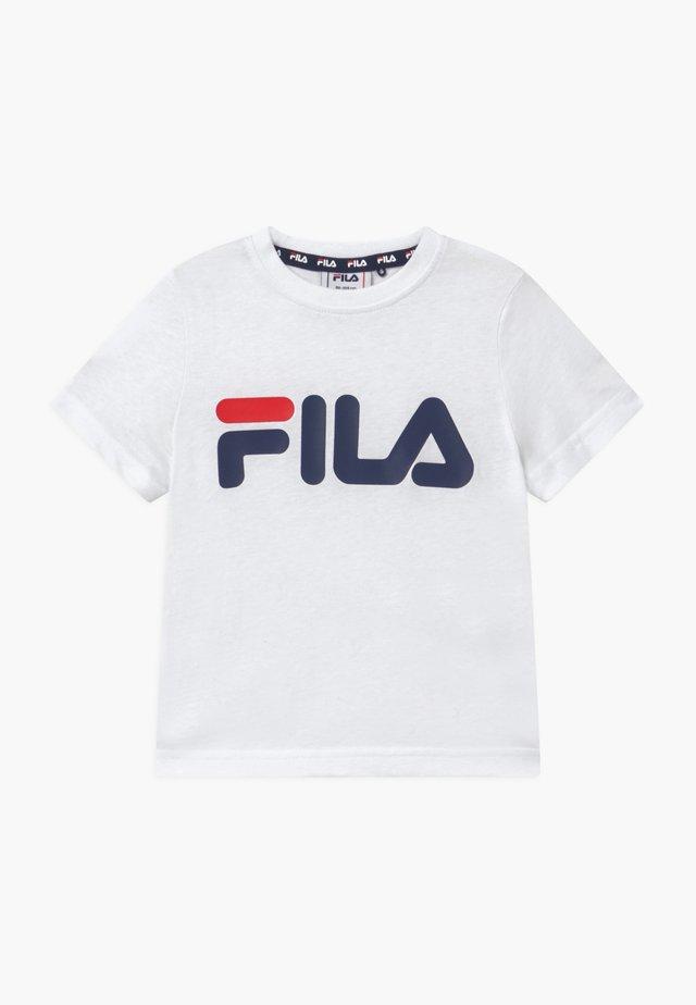 LEA CLASSIC LOGO TEE - T-shirt med print - bright white