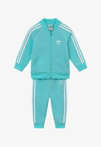 adidas Originals - SUPERSTAR SET - Zip-up hoodie - claqua/white - 3