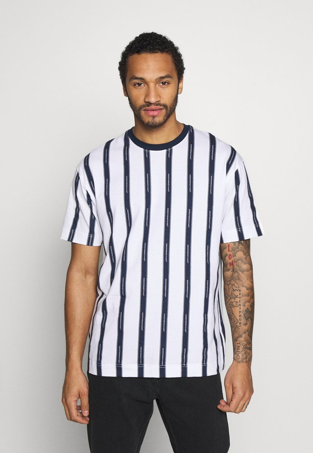 VERTICAL STRIPE - T-shirt imprimé - black