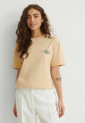 T-shirt imprimé - beige central perk