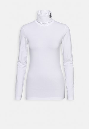 NECK ROLL NECK - T-shirt à manches longues - bright white/ck black