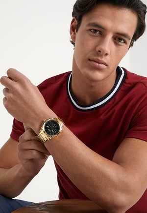 MENS SPORT - Watch - gold-coloured/black