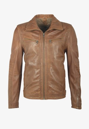 CARLOW NSLV - Leather jacket - brown