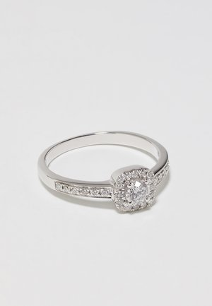 9KT WHITE GOLD 0.40CT CERTIFIED DIAMOND FASHION RING - Ring - silver-coloured