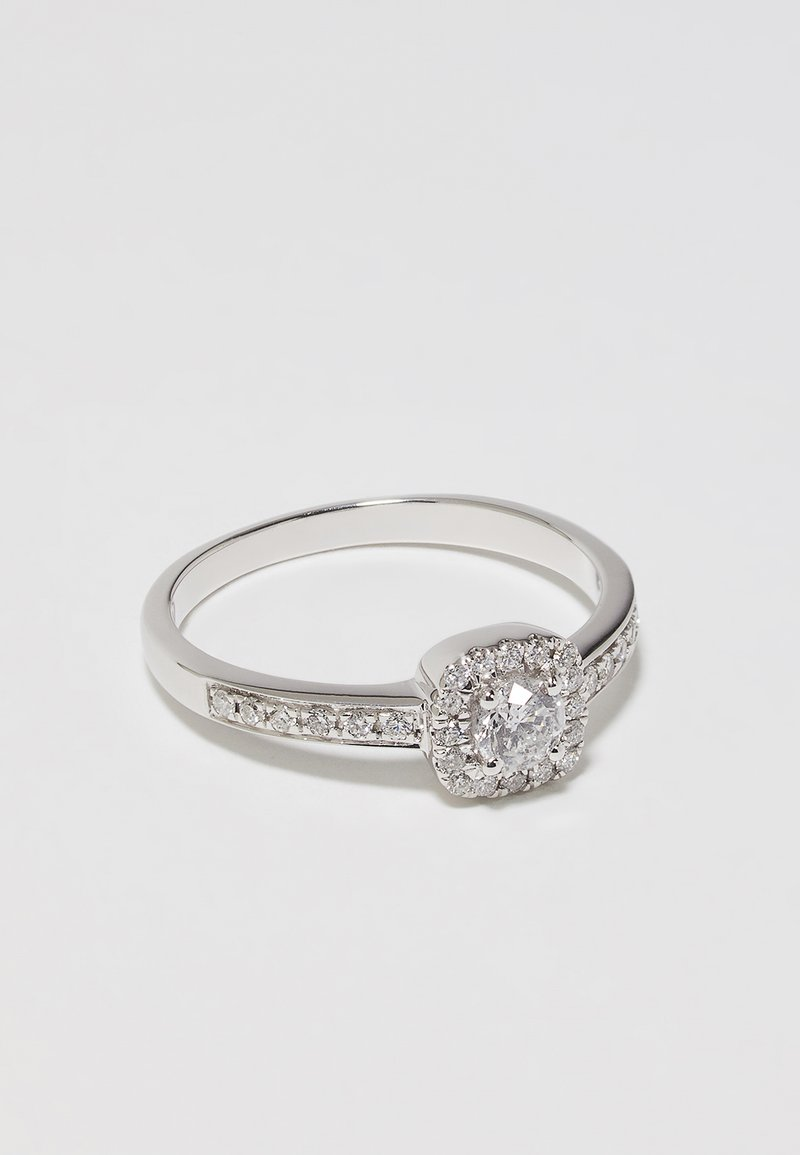 DIAMANT L'ÉTERNEL - 9KT WHITE GOLD 0.40CT CERTIFIED DIAMOND FASHION RING - Prsten - silver-coloured