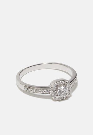 NATURAL DIAMOND RING CERTIFIED 0.4CARAT HALO DIAMOND RINGS 9KT WHITE GOLD DIAMOND JEWELLERY GIFTS FOR WOMENS - Ring - white gold