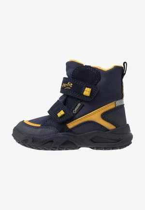 GLACIER - Zimní obuv - blau/gelb