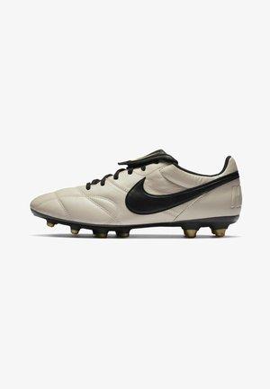 PREMIER II FG - Moulded stud football boots - oatmeal/metallic vivid gold/black