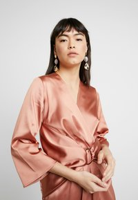Closet - PLEATED WRAP DRESS - Day dress - rose gold - 4
