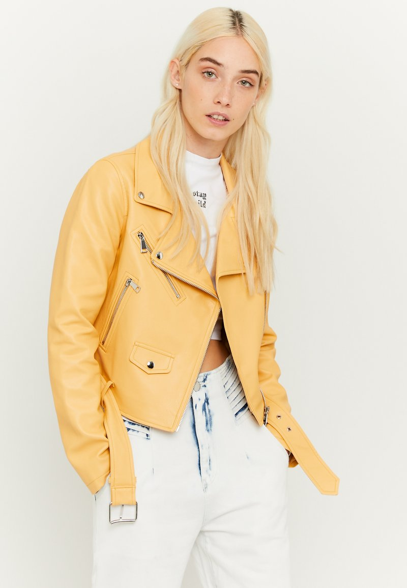 TALLY WEiJL - Faux leather jacket - yellow
