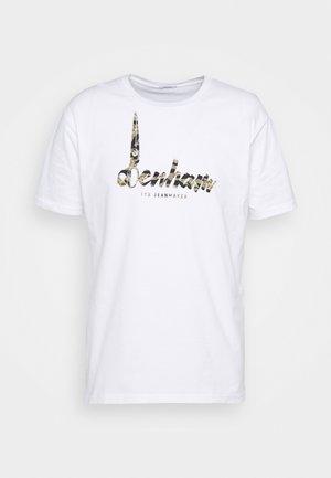 HEATON TEE - Print T-shirt - white