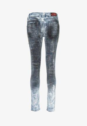 MIT NIETENBESATZ - Jeans Skinny Fit - blauw