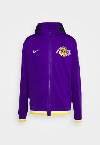 NBA LOS ANGELES LAKERS SHOWTIME FULL ZIP HOODIE - Squadra - field purple/white/amarillo