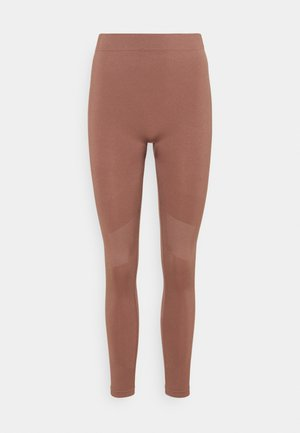 CELESTIA SEAMLESS TIGHTS - Legging - brown plum