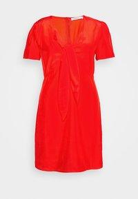 Glamorous Curve - TIE FRONT SHIFT DRESS - Korte jurk - red orange - 3