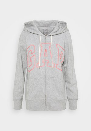EASY - veste en sweat zippée - grey heather