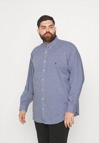 Polo Ralph Lauren Big & Tall - LONG SLEEVE SPORT SHIRT - Shirt - navy/white - 0