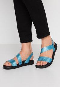 WONDERS - Sandaler - blue metallic - 0
