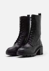Zign - Šněrovací vysoké boty - black - 2